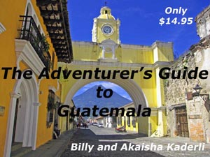 Book cover to Guatemala Guide, Santa Catarina archway, Antigua, Guatemala