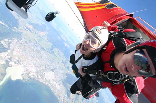 Highest Skydive in New Zealand for a TV Show