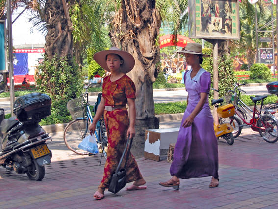 Ladies Strolling on the Boulevard