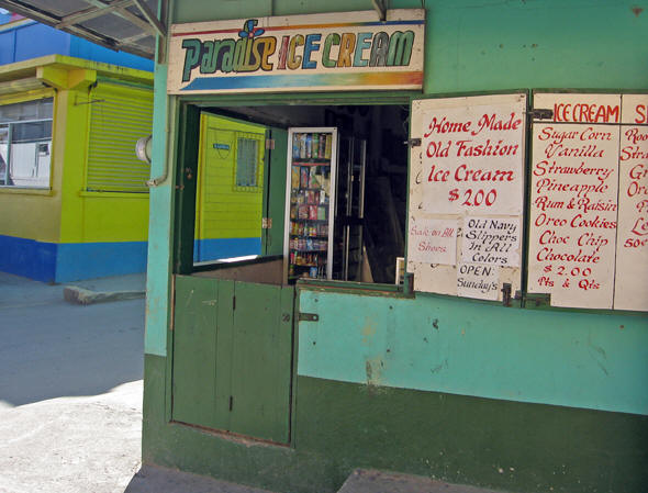 Local ice cream shop in San Ignacio, Belize