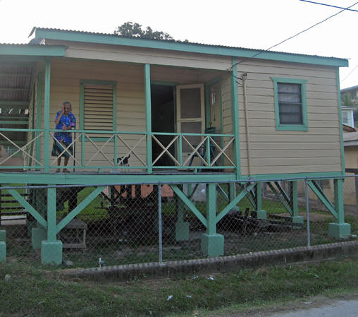 Many Belizean houses are on stilts