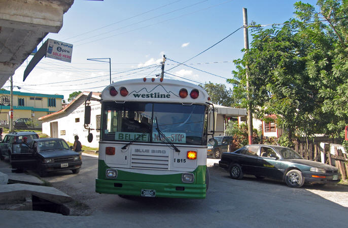 There are buses to take you long distances in Belize