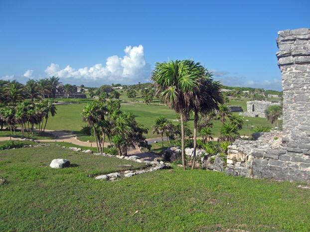 Upon entering the resort you can see the outline of homes overlooking the fairway.