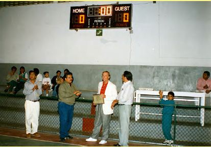 Billy receiving his certificate of recognition from the City of Chapala