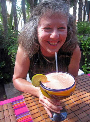 Windblown, weary and in sweltering heat for hours, it's time for a fresh tropical fruit juice!
