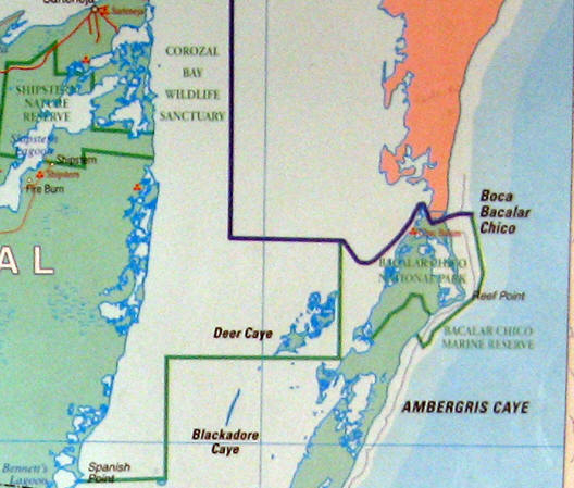 Another map of the area showing the marine reserves